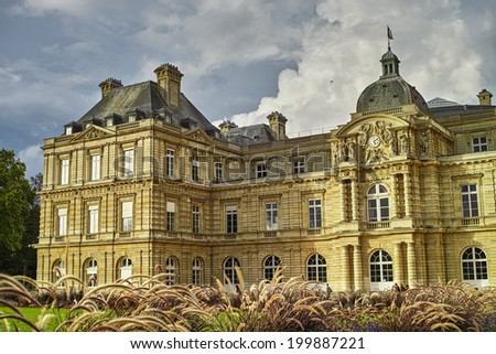 Art at the Luxembourg gardens, Paris. - stock photo