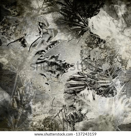 art autumn blurred leaves monochrome textured background in grey, white and black colors