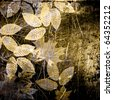 art autumn leaves vintage background in beige and brown colors - stock photo