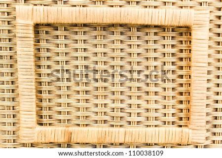 art bamboo basket - stock photo