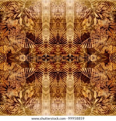 art brown traditional ornamental vintage pattern - stock photo