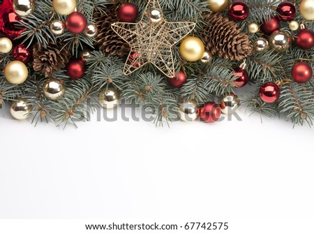 Art Christmas announcement - stock photo