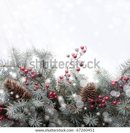Art Christmas card - stock photo