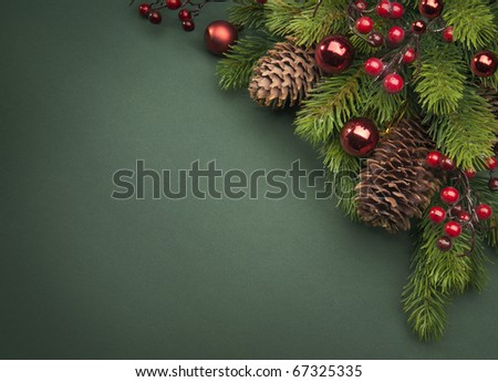 Art Christmas greeting card - stock photo