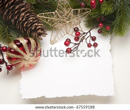 Art Christmas greeting card - stock photo