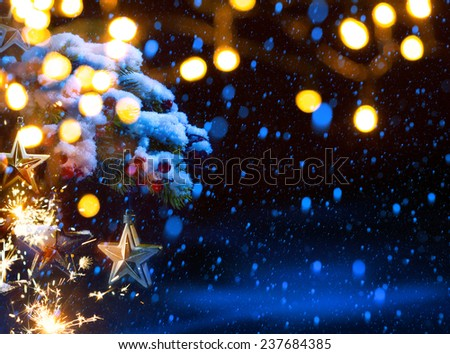 Art Christmas holidays party background - stock photo
