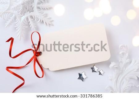 art Christmas holidays sale; tree light background - stock photo