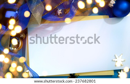 Art Christmas invitation background - stock photo