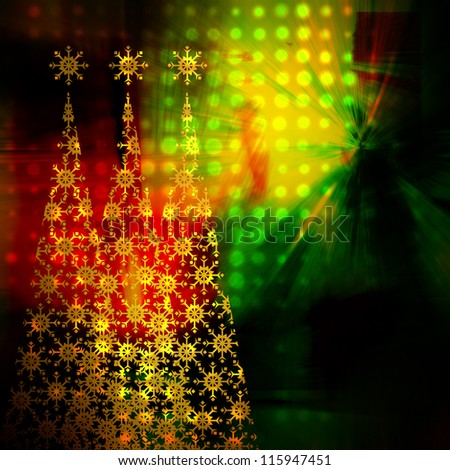 art christmas rainbow background