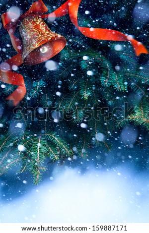 art christmas tree background - stock photo