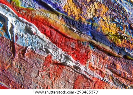 Art close-up picture painted with acrylic paints - stock photo