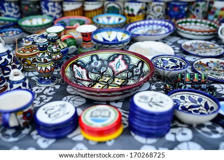 Art Crafts in Hebron - stock photo