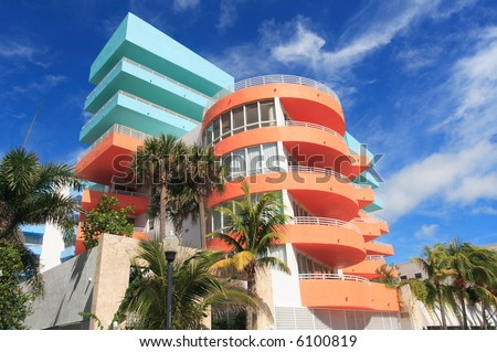Art Deco Architecture - stock photo