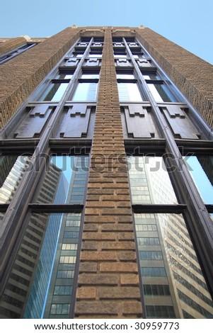 art deco building - stock photo
