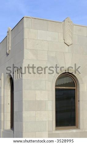 Art Deco Depot Detail - stock photo