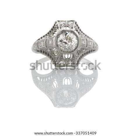 Art Deco Diamond Rind - stock photo