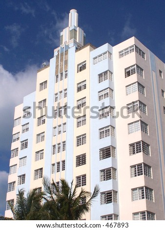 Art Deco Hotel, South Beach Florida - stock photo