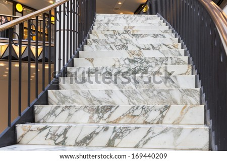 Art deco marble stairs - stock photo