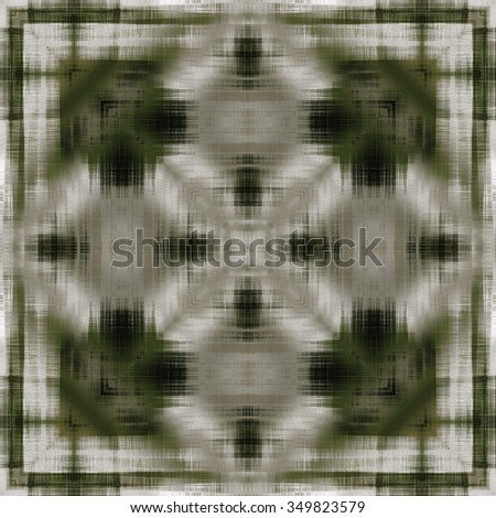art deco ornamental vintage pattern, monochrome background in white, beige, green and black colors