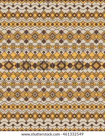 Art Deco Shapes Pattern 2 of geometric motifs in neutral colors.