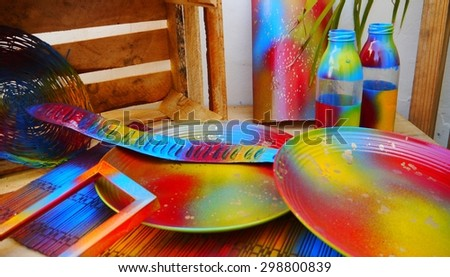 art decoration design colorful painting handmade