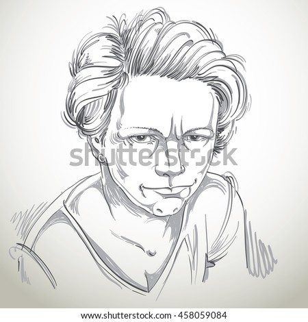 Art drawing portrait angry girl isolated stock illustration 458059084 shutterstock