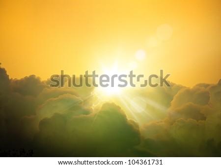 Art fantasy cloudscape background - stock photo