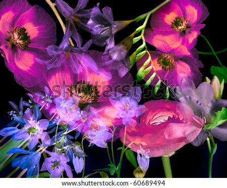 Art floral background - stock photo