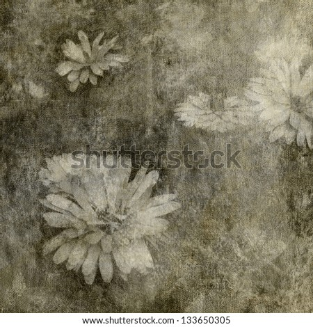 art floral blurred sepia background with asters  - stock photo