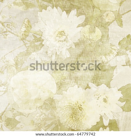 art floral grunge light monochrome background in white and olive for family holidays