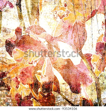art floral vintage background in pastel colors - stock photo