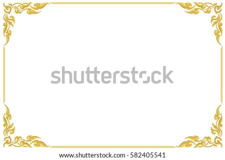 Art Frame Corner Golden Design Isolated Stock Photo (Royalty Free ...