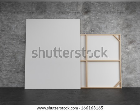 Art gallery concept - stock photo