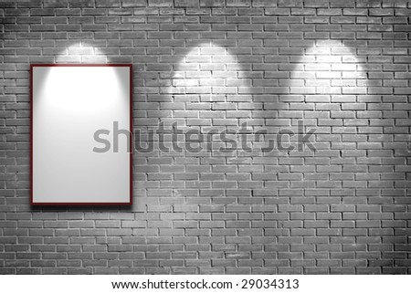 art gallery for your photo and text - stock photo