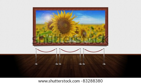 Art Gallery. You can change the picture from frame with one that suits your needs. High resolution elements. - stock photo