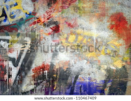 Art grunge background, color illustration