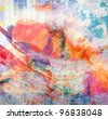 Art grunge background, color texture - stock vector