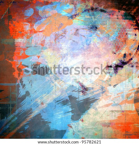 Art grunge background, colorful texture - stock photo