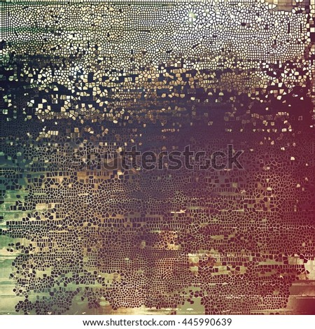 Art grunge texture for creative design or scrap-book. With vintage style decor and different color patterns: yellow (beige); brown; gray; green; purple (violet); pink - stock photo