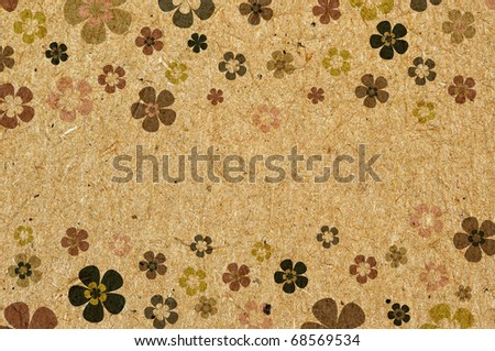 art grunge vintage floral background - stock photo