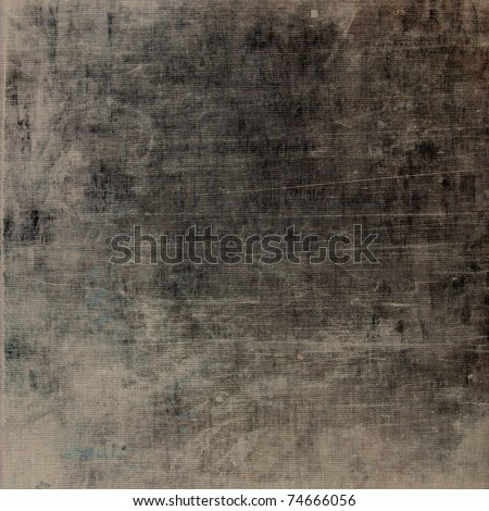 art grunge vintage textured, dark grey and beige background with black blots and light lines - stock photo