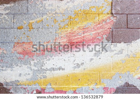 Art  Grunge Wall,Mixed Media From  Grunge Colors Texture And Bricks Wall