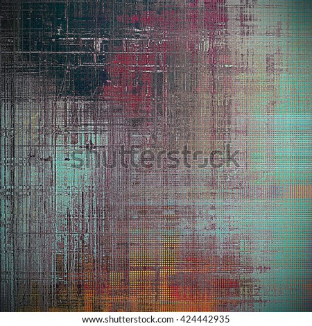 Art grungy texture, aged background with retro feeling. With different color patterns: yellow (beige); blue; red (orange); black; pink; cyan - stock photo