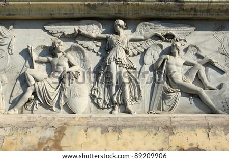 Art in Rome, Italy - Piazza del Popolo - stock photo