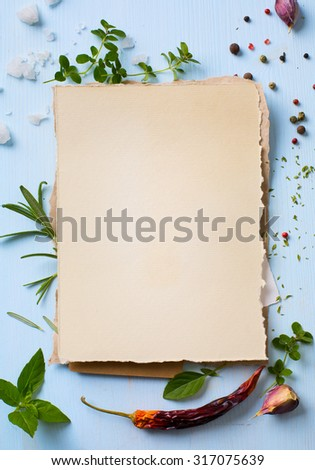 Art italian home cooking background; restaurant week - stock photo