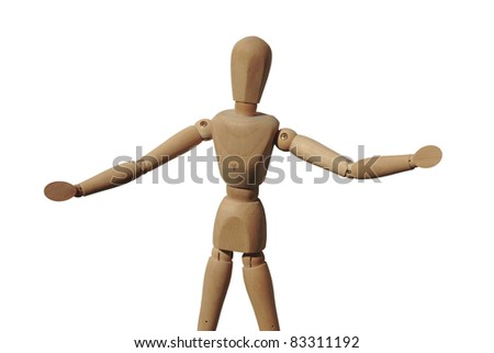 art model man against a white background with clipping path - stock photo