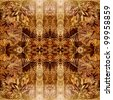 art monochrome brown traditional ornamental vintage pattern on textile textured background - stock photo