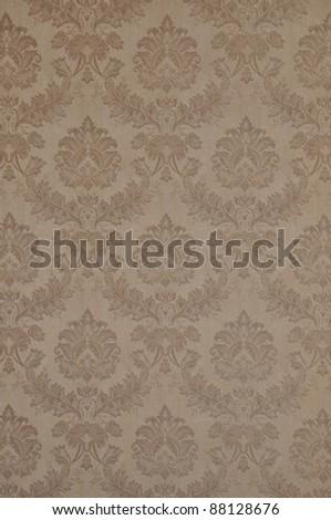 Art Nouveau wallpaper with floral ornament - stock photo