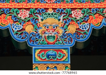 Art of bhutan - stock photo