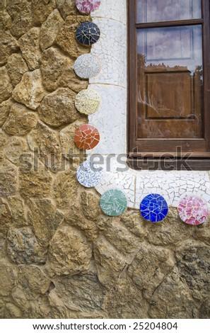 Art of Gaudi closeup - stock photo
